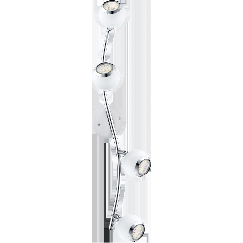 Plafoniera Eglo Style Bimeda 4 x 3W 64x10cm alb-crom imagine sensodays.ro