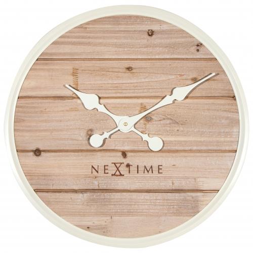 Ceas de perete NeXtime Plank 50cm white imagine