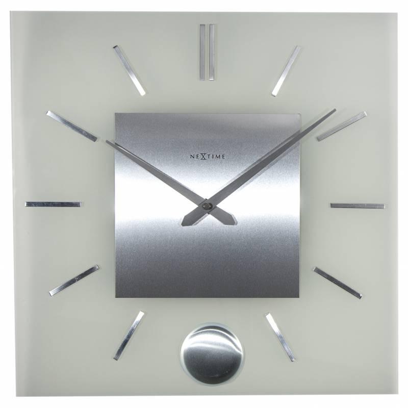 Ceas De Perete Nextime Stripe Pendulum Square 40x40cm