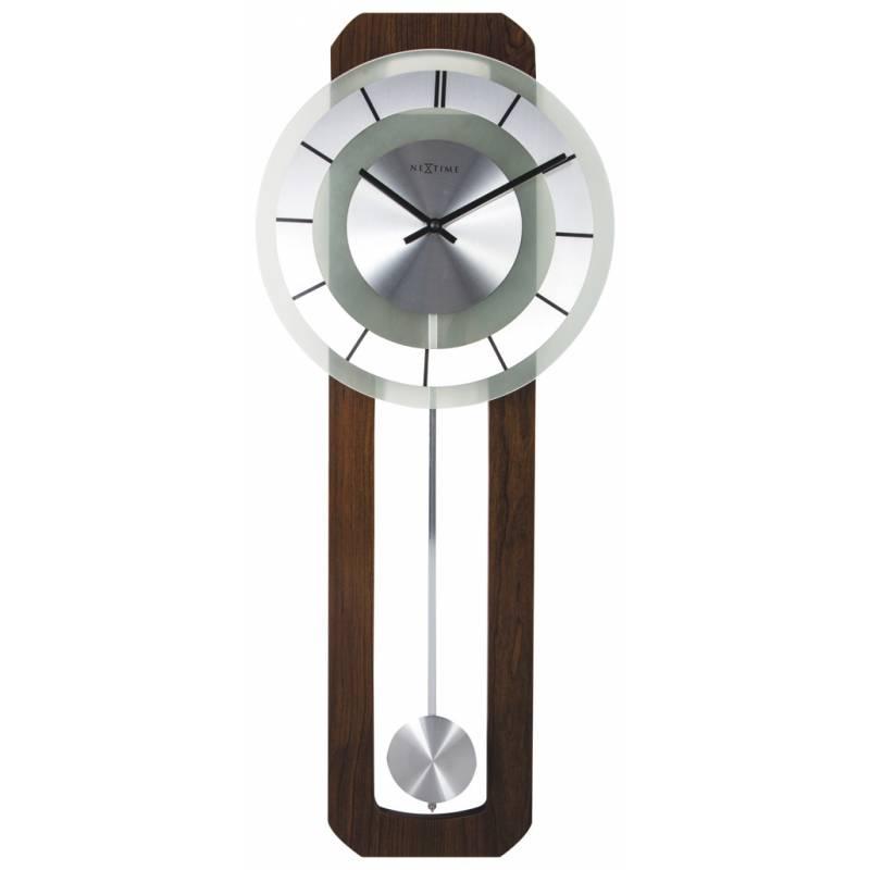 Ceas De Perete Nextime Retro Pendulum Silver 32x80cm