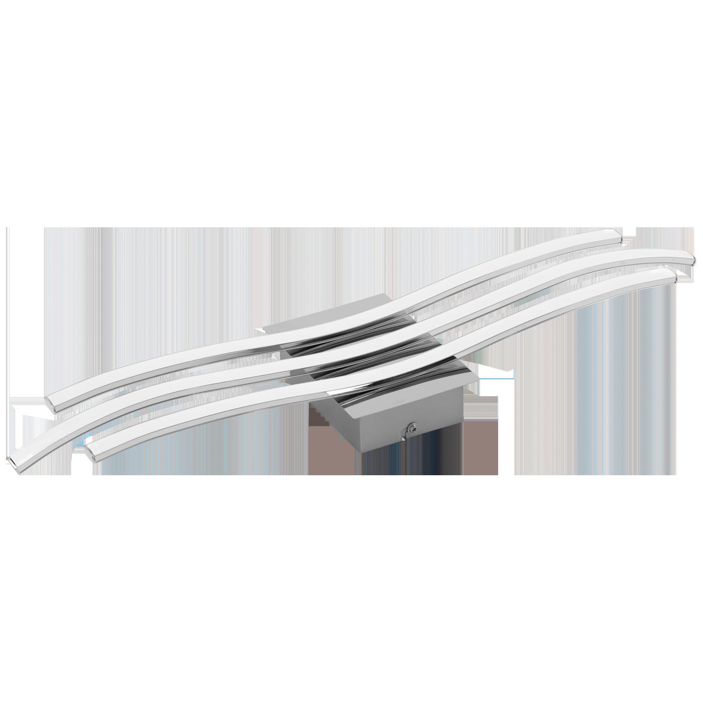 Aplica Eglo Roncade LED 26W 65x13x4.5cm crom-alb imagine sensodays.ro
