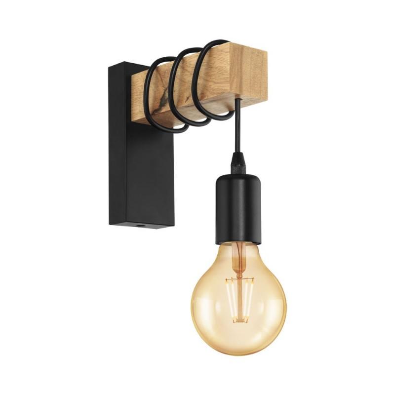 Aplica Eglo Townshend 1x60W E27 maro-negru imagine sensodays.ro