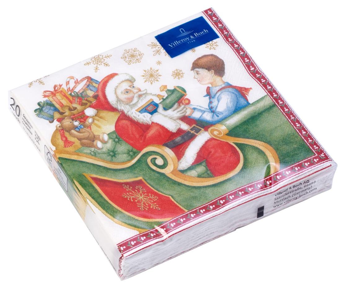 Set servetele hartie Villeroy & Boch Winter Specials Napkin L Toys Nicholas 25x25cm
