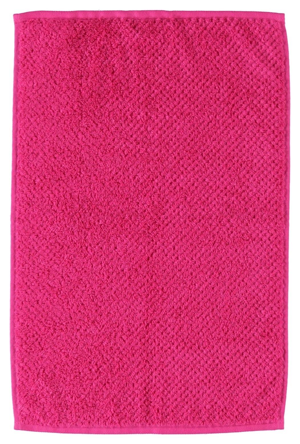 Prosop baie S`Oliver Uni Struktur 70 x 140 cm Pink imagine