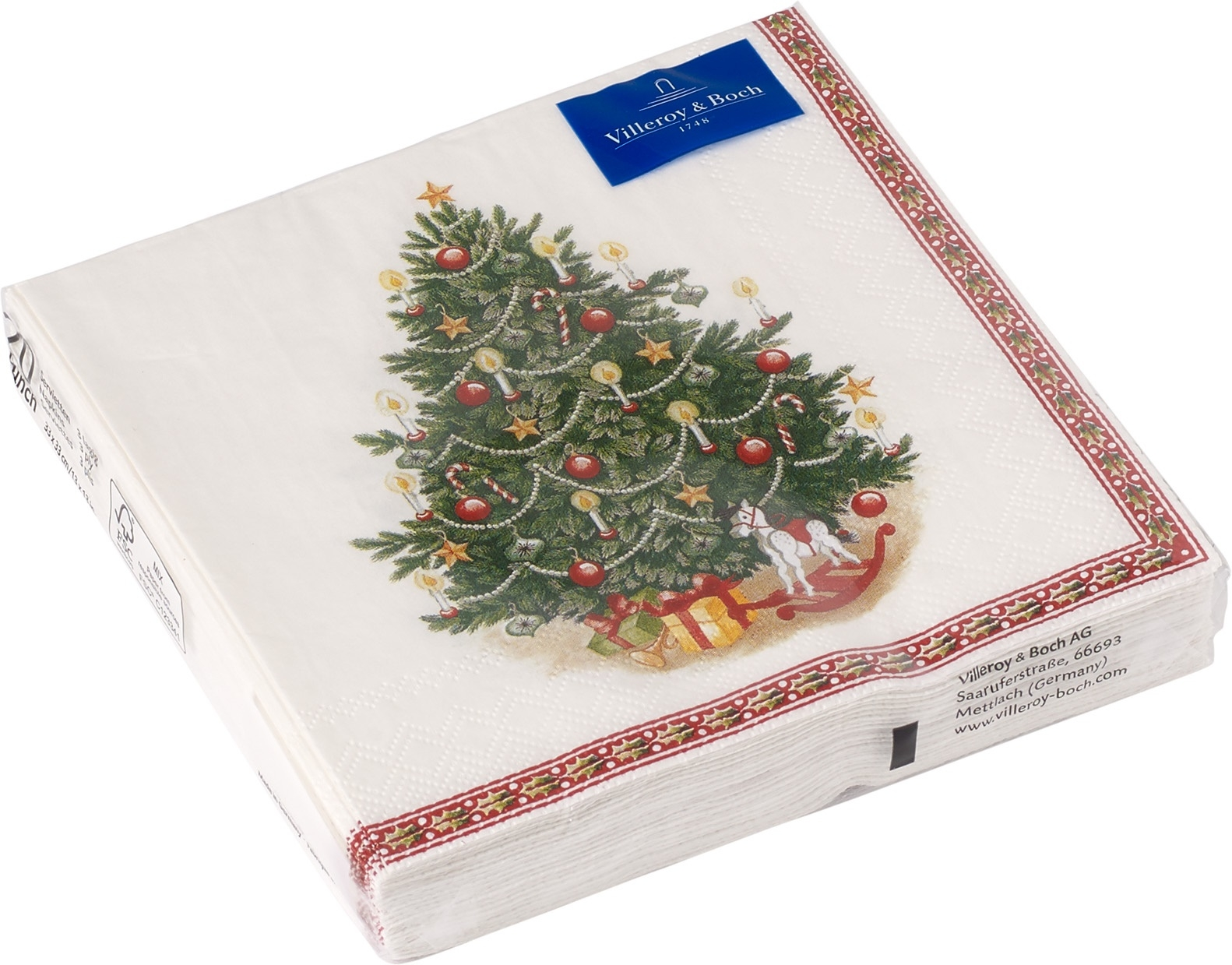 Set servetele hartie Villeroy & Boch Winter Specials C-Napkin Fir Tree 25x25cm imagine