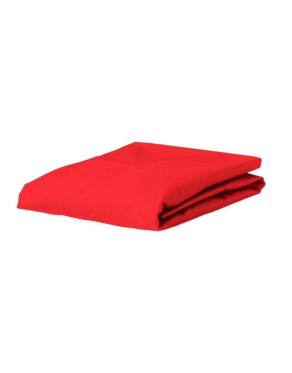 Cearceaf de pat cu elastic Essenza Mako Jersey 140/160x200/220cm 140 gr/m2 rosu imagine