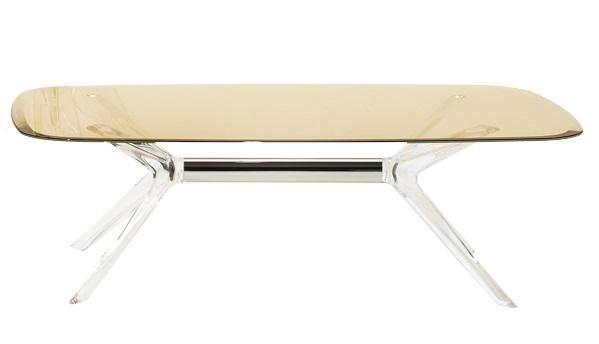 Masuta Kartell Blast design Philippe Starck 130x80cm h40cm crom-fumuriu transparent poza