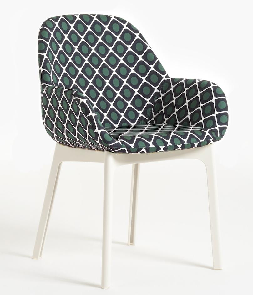 Scaun Kartell Clap design Patricia Urquiola editie Double J alb - model olive