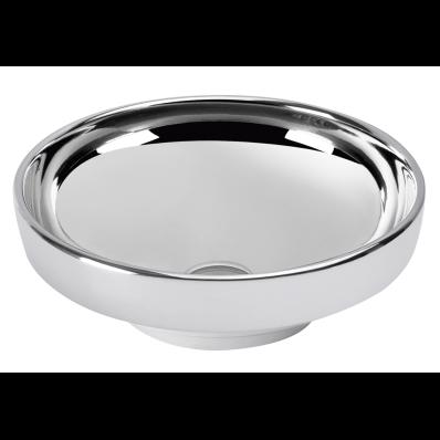 Lavoar tip bol Vitra Water Jewels 40cm fara orificiu baterie fara preaplin montare pe blat Platinum imagine