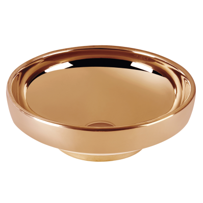 Lavoar tip bol Vitra Water Jewels 40cm fara orificiu baterie fara preaplin montare pe blat Copper