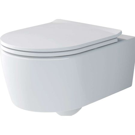 Set vas WC suspendat Villeroy & Boch Soul 37x53cm Direct Flush si capac cu inchidere lenta imagine sensodays.ro