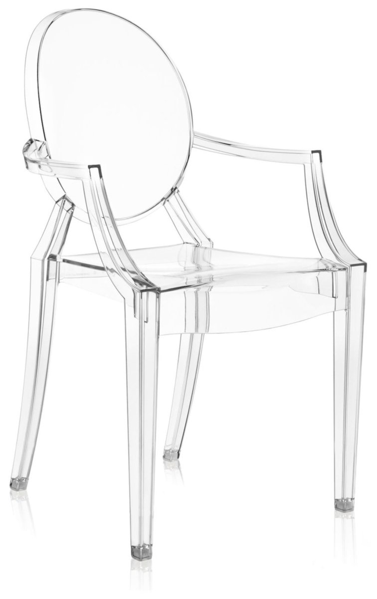 Scaun Kartell Louis Ghost design Philippe Starck transparent poza