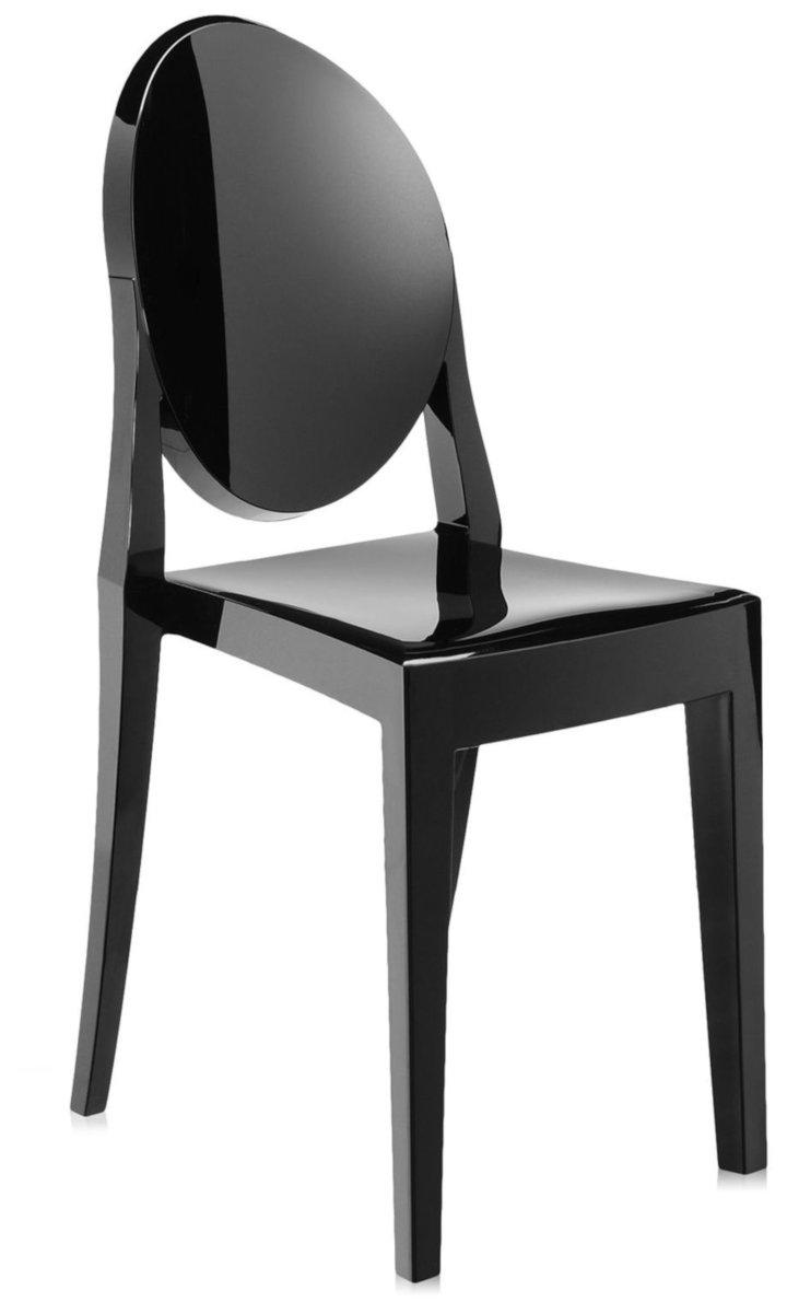 Scaun Kartell Victoria Ghost design Philippe Starck negru lucios poza