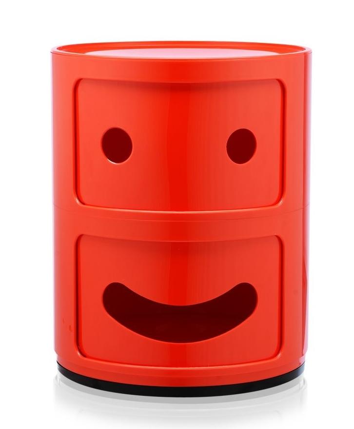 Comoda modulara Kartell Componibili 2 Smile Happy design Anna Castelli Ferrieri rosu imagine