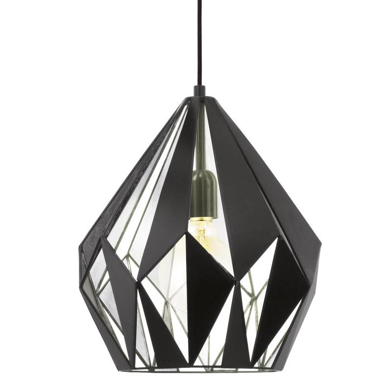 Imagine Pendul Eglo Carlton Colectia Trend 1x60w 110x31cm Negru-argintiu