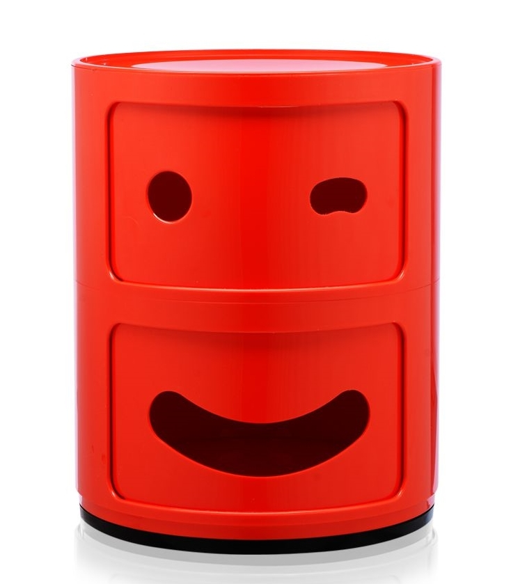 Comoda modulara Kartell Componibili 2 Smile Wink design Anna Castelli Ferrieri rosu poza