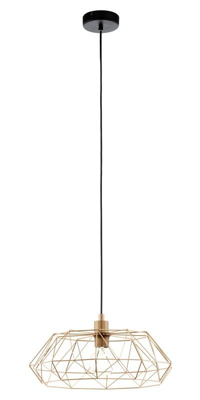Pendul Eglo Trend Carlton 2 1x60W d45.5cm h110cm cupru poza