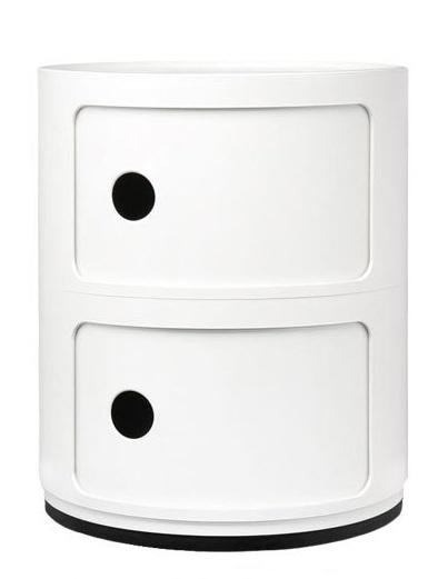 Comoda modulara Kartell Componibili 2 design Anna Castelli Ferrieri alb poza