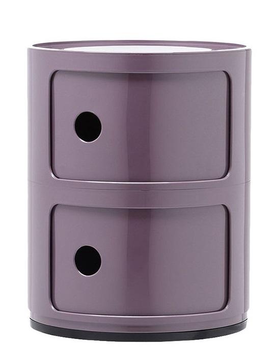 Comoda modulara Kartell Componibili 2 design Anna Castelli Ferrieri mov poza