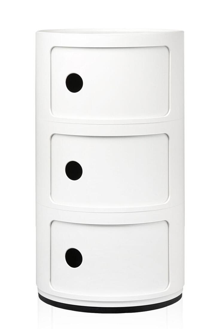 Comoda modulara Kartell Componibili 3 design Anna Castelli Ferrieri alb