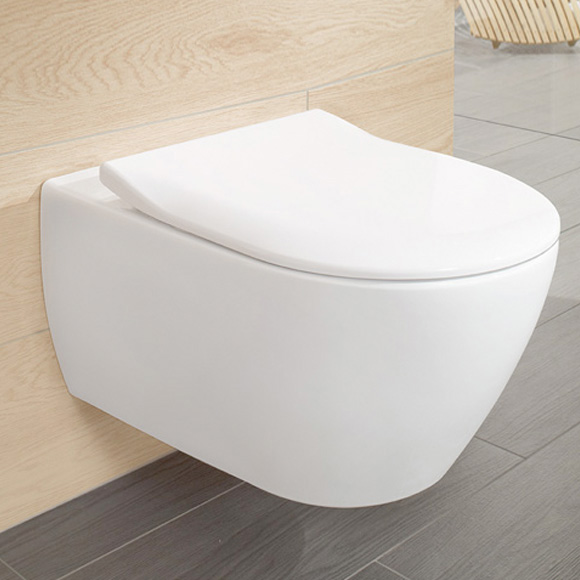 Set vas WC suspendat Villeroy & Boch Subway 2.0 DirectFlush cu capac inchidere lenta poza