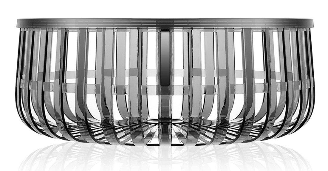 Masuta Kartell Panier design Ronan & Erwan Bouroullec 61cm h 21cm gri transparent poza