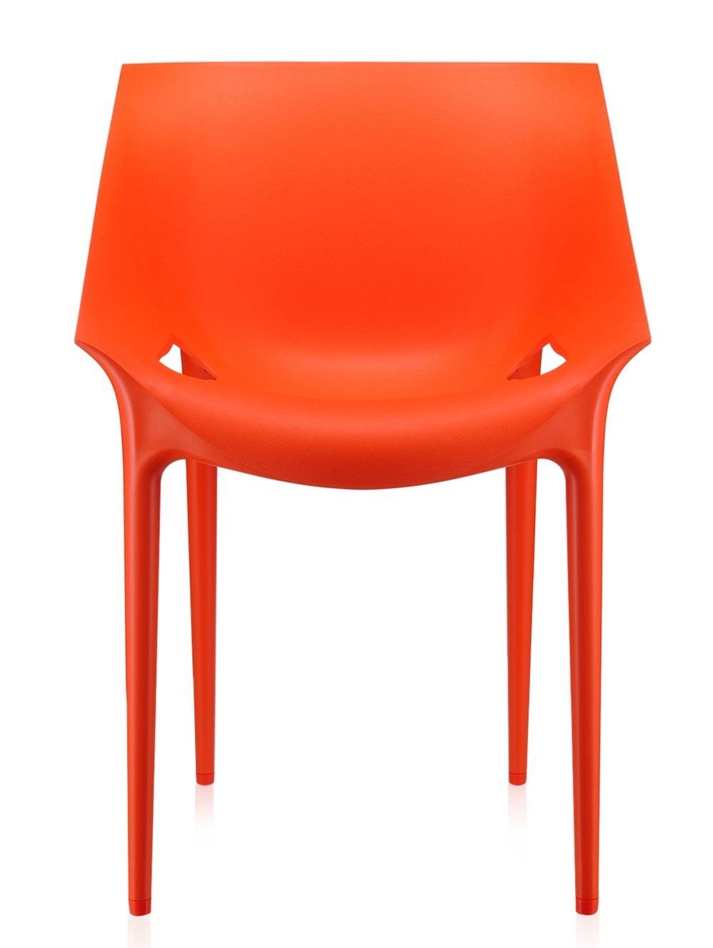 Scaun Kartell Dr. Yes design Philippe Starck & Eugeni Quitllet rosu-portocaliu