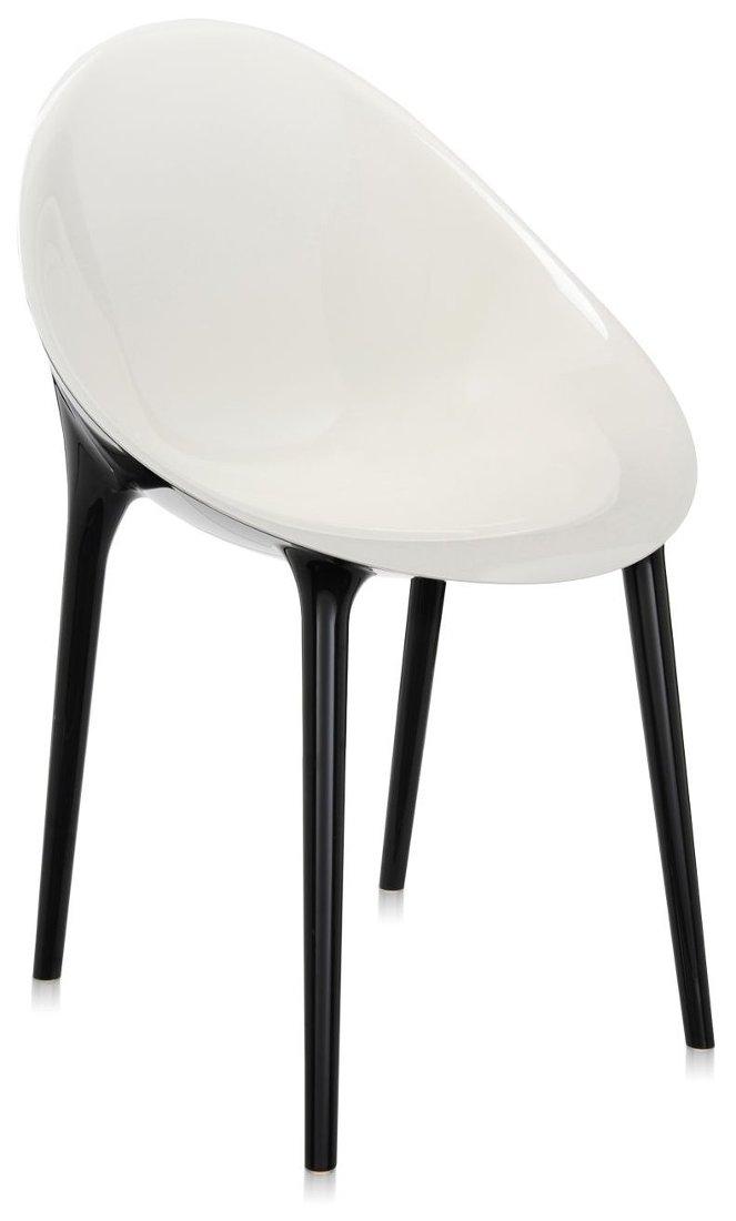 Scaun Kartell Super Impossible design Philippe Starck alb-negru