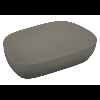 Lavoar tip bol Vitra Outline VitrAclean fara orificiu baterie fara preaplin ventil ceramic Platinium