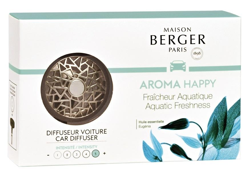 Set odorizant masina Berger Aroma Happy Fraicheur Aquatique + rezerva ceramica imagine