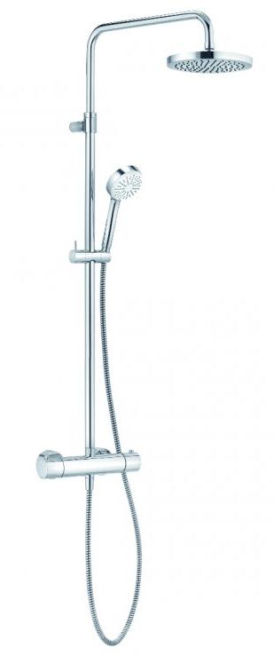 Coloana de dus Kludi Logo THM Dual Shower System cu baterie de dus termostatata