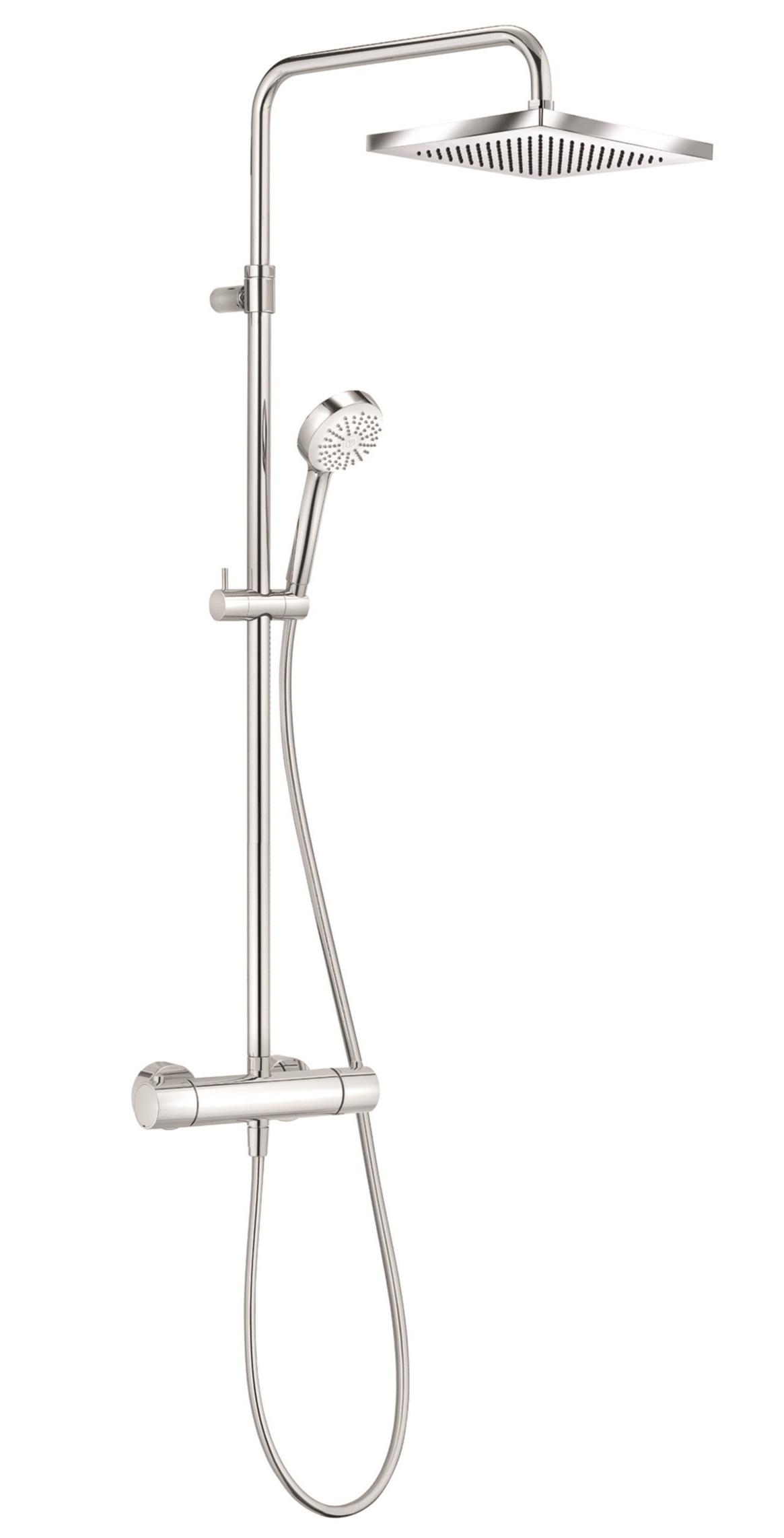 Coloana de dus Kludi Logo 1S Dual Shower cu baterie de dus termostatata poza