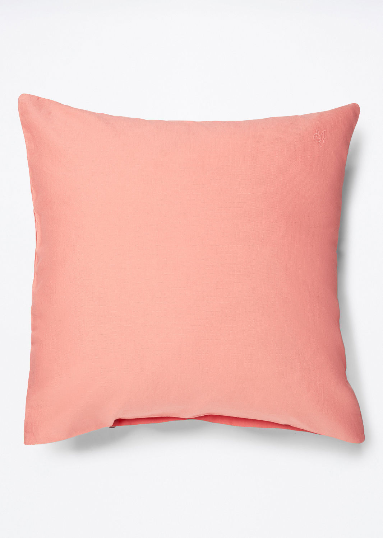 Fata de perna Marc O`Polo Washed Linen 40x40cm roz coral imagine