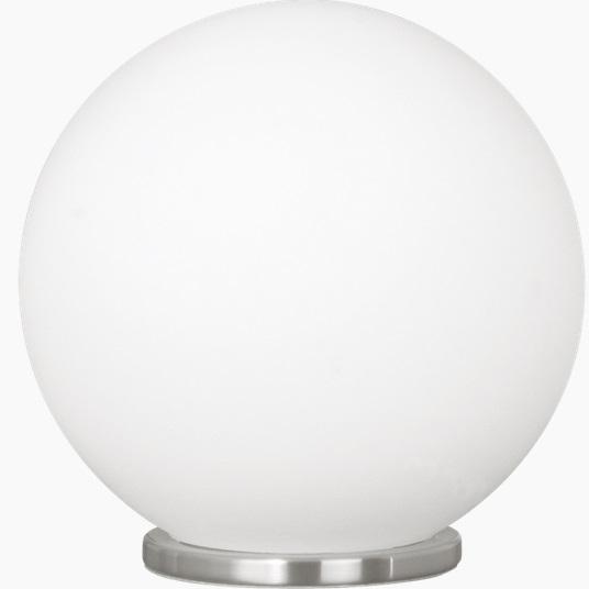 Veioza Eglo Basic Rondo 1X 60W d 20cm Sticla opal alba poza