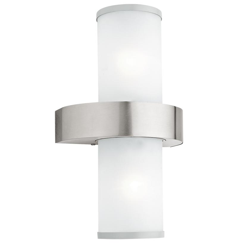Aplica de exterior Eglo Modern Beverly 2x60W 20x35x13.5cm inox-sticla satinata poza