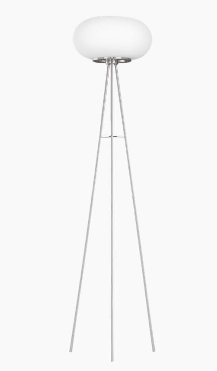 Lampadar Eglo Optica colectia Style 2x60W h157cm diametru 35cm alb mat - nichel mat poza