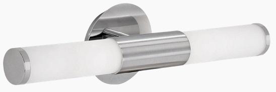 Aplica Eglo Palmera 2x40W 46cm colectia Style Nichel Sticla Opal alba poza