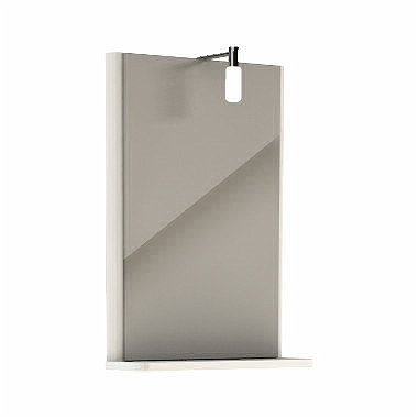 Oglinda Kolo Rekord 44.3x60.5x12.5cm cu iluminare si polita imagine sensodays.ro