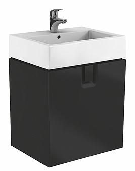 Dulap baza Kolo Twins 60 cm cu un sertar negru mat poza