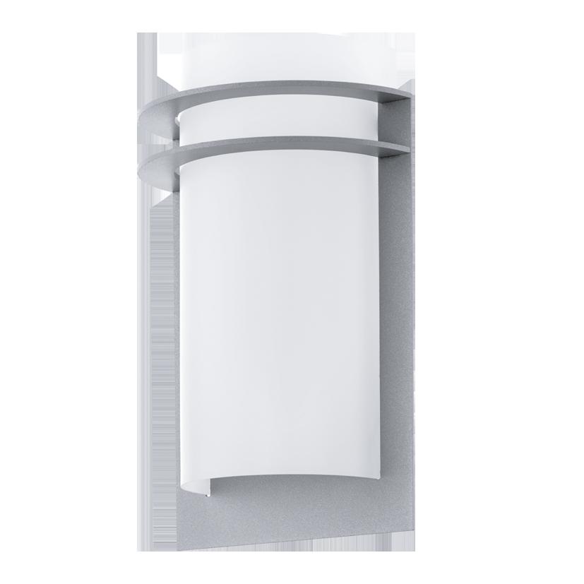 Aplica de exterior Eglo Malgera 2x2.5W LED argintiu-alb imagine sensodays.ro
