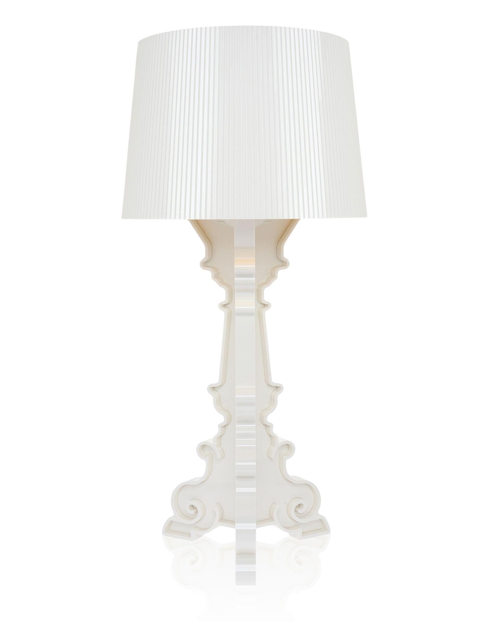 Veioza Kartell Bourgie design Ferruccio Laviani E14 max 3x28W d37cm alb-auriu poza