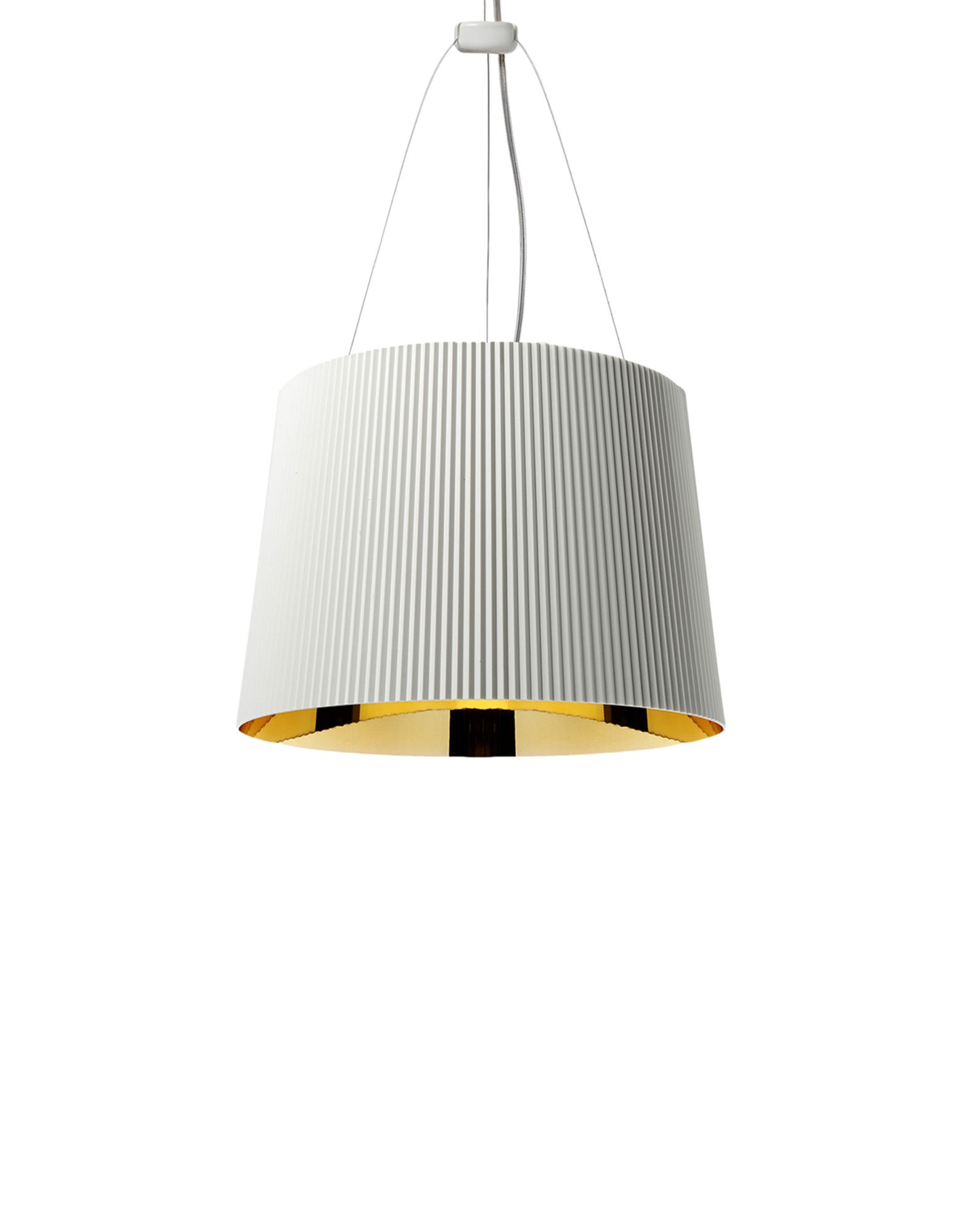 Suspensie Kartell Ge' design Ferruccio Laviani E27 max 70W h37cm alb-auriu poza
