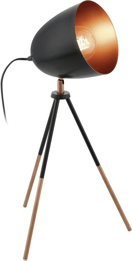 Veioza Eglo Vintage Chester 1x60W h44cm negru-cupru