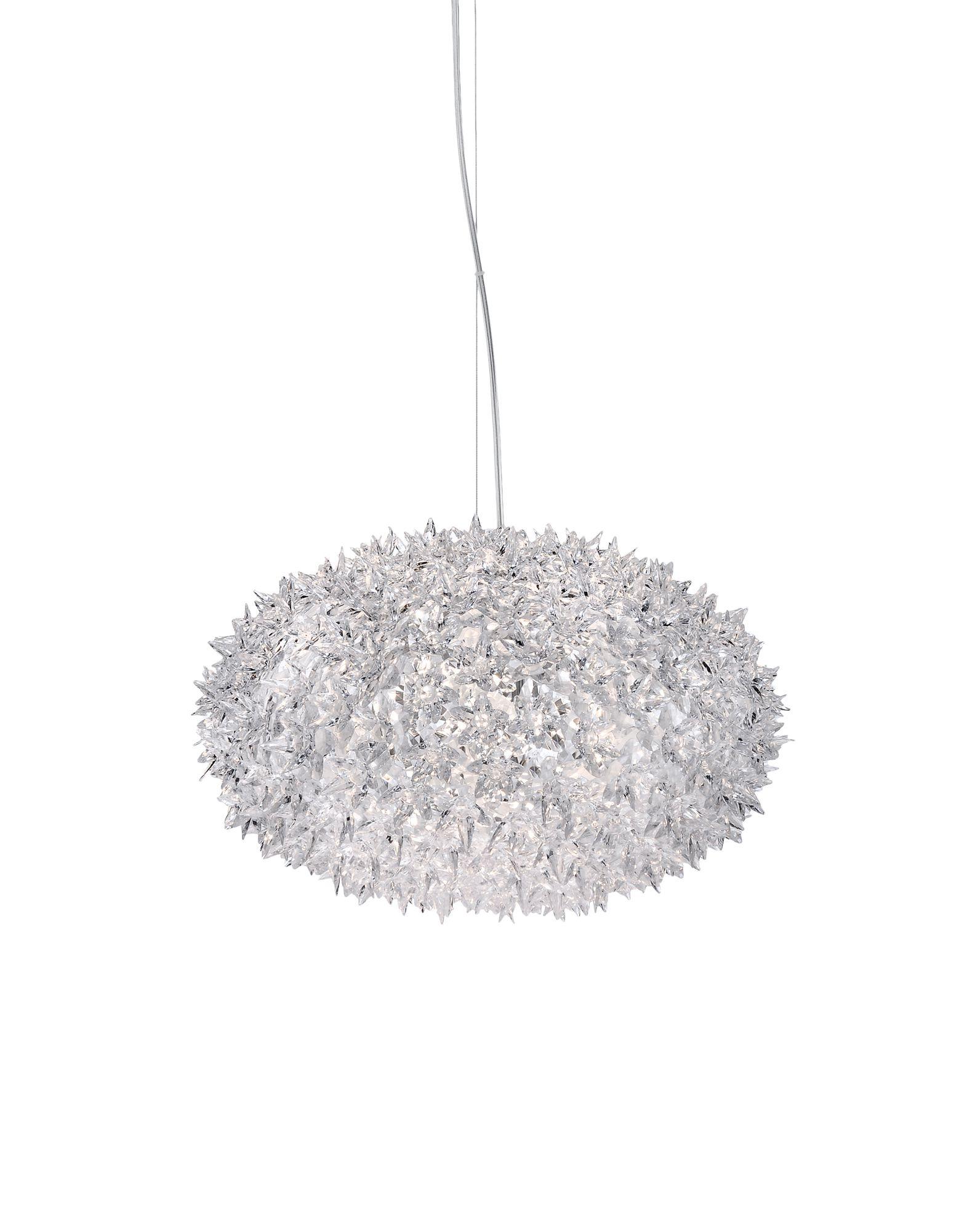 Suspensie Kartell Bloom design Ferruccio Laviani G9 max 6x33W d53cm transparent poza