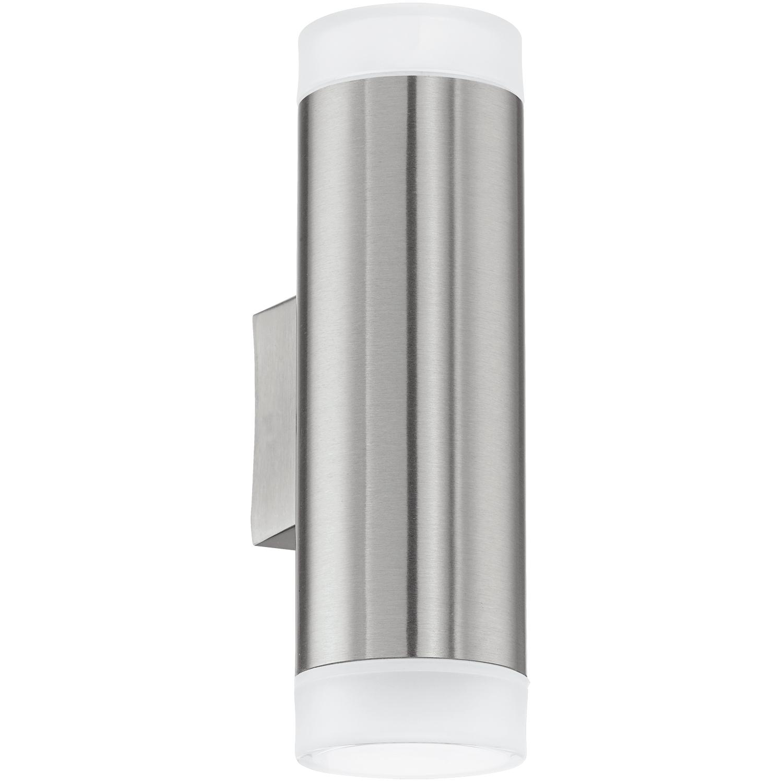 Aplica de exterior Eglo Modern Riga LED 2x3W 6.5x20.5x9.5cm inox-plastic poza