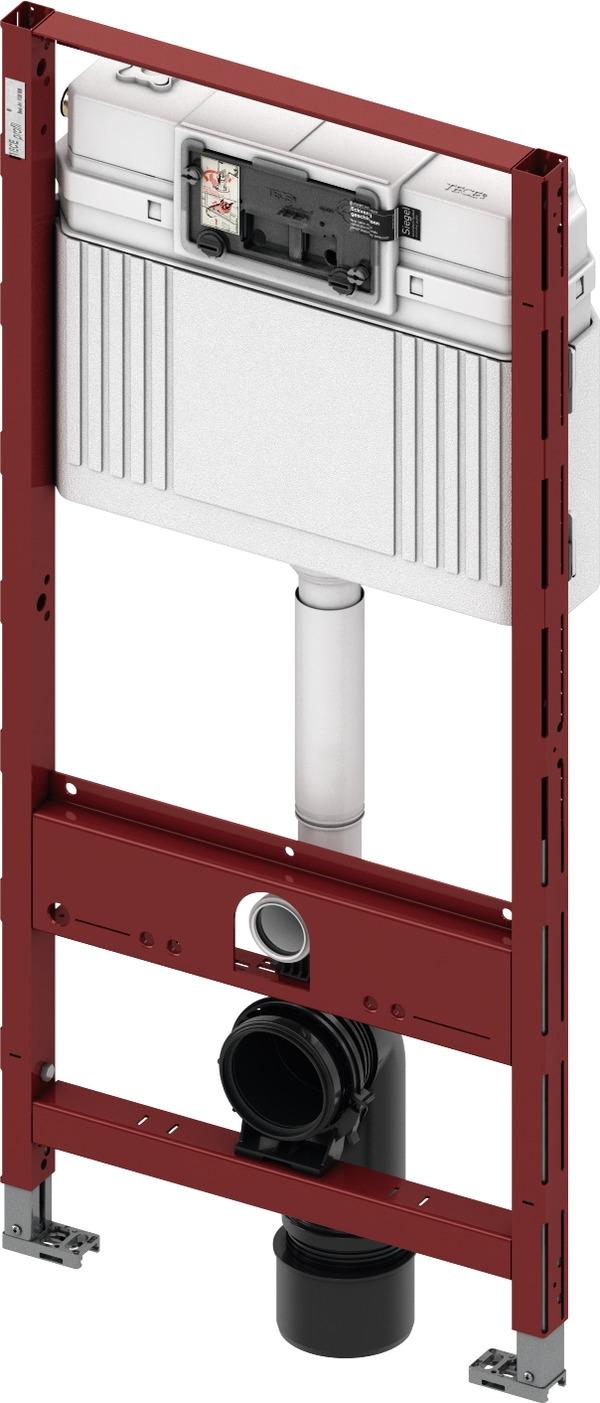 Rezervor incastrat Tece Standard de 15 cm grosime cu cadru si actionare frontala H112cm
