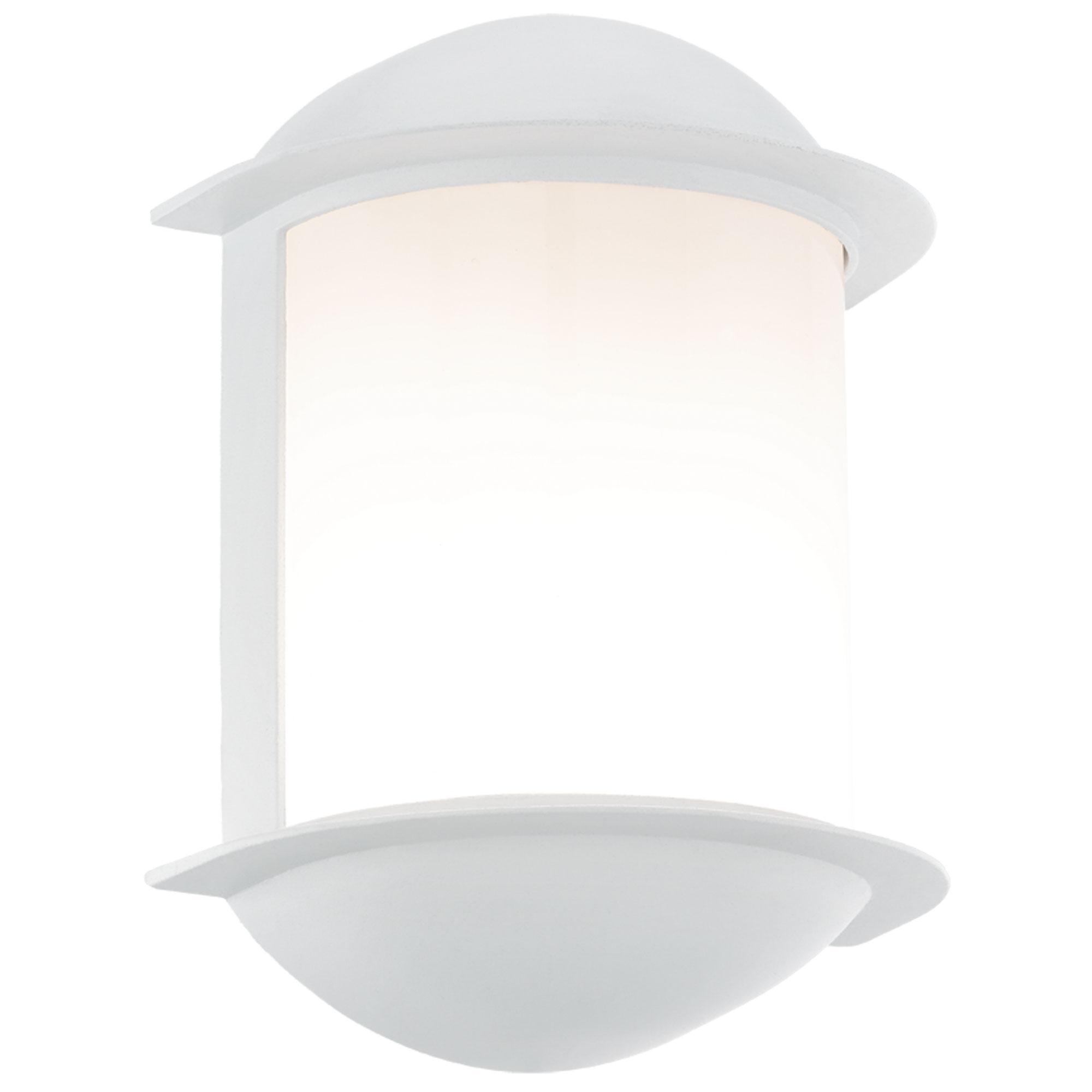 Aplica de exterior cu LED Eglo Modern Isoba 1x7W 16x22x10cm aluminiu alb imagine sensodays.ro