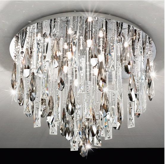 Plafoniera Eglo Calaonda 8x33W 58cm colectia Avantgarde Crom Cristal