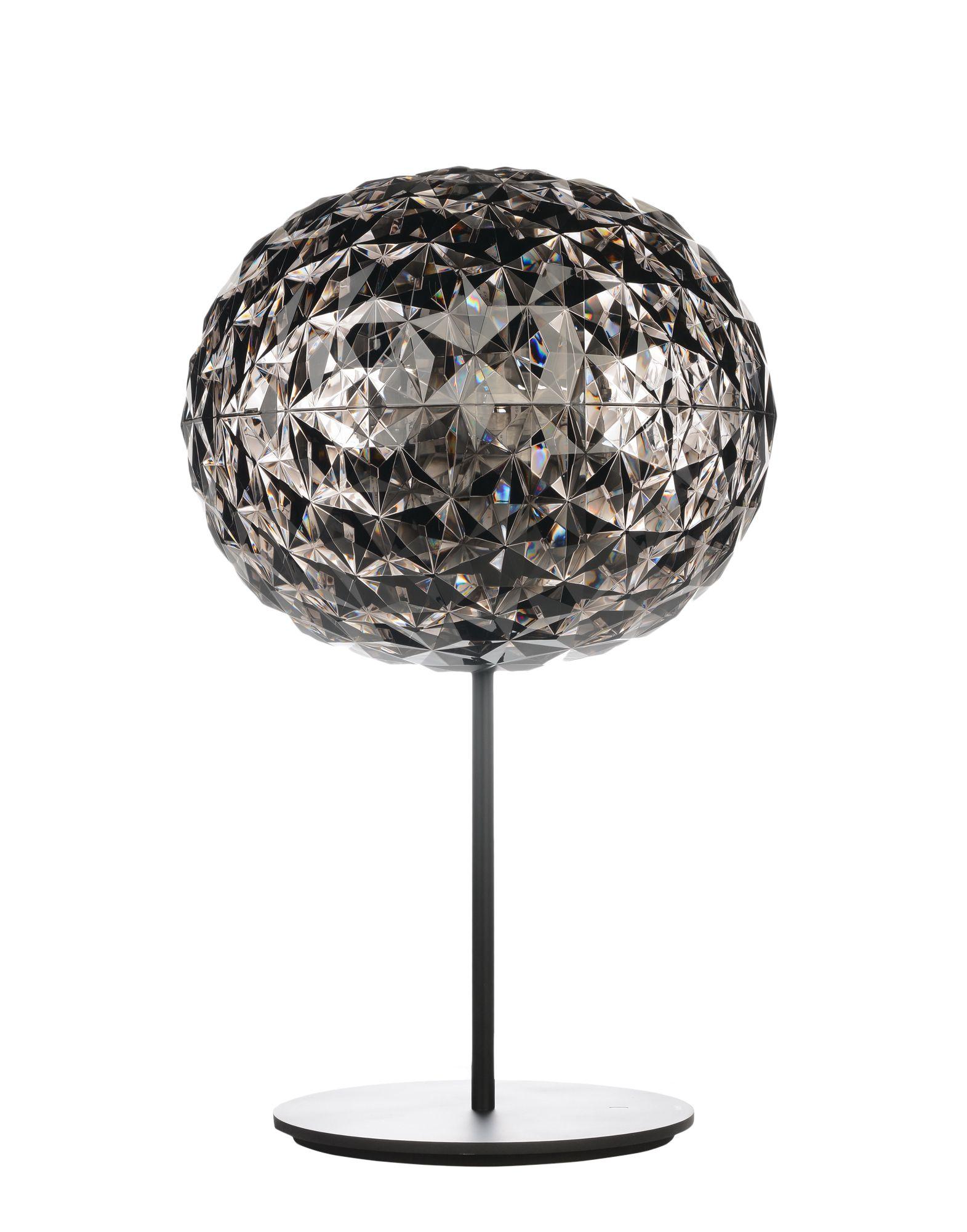 Veioza Kartell Planet design Tokujin Yoshioka LED d33cm fumuriu poza