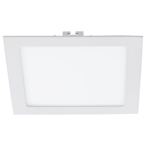 Plafoniera cu LED incastrabila Eglo Fueva 1 colectia Style 17W 2000 lm 22 5x22 5x2 5cm alb poza